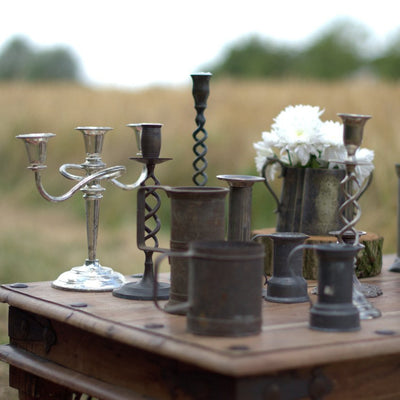 Tankards and Vases | Prop Hire | table and chair decor london | Rock the Day Wedding Styling