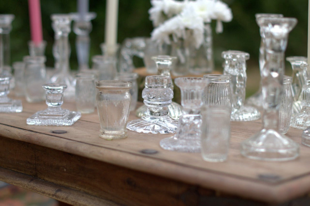 Glass Candlesticks | Rock the Day Wedding Styling