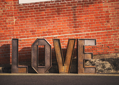 Industrial illuminated LOVE letters for hire Essex, London, Suffolk