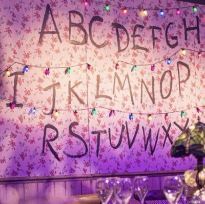 Stranger Things Alphabet Wall prop for hire | bespoke props |  Rock the Day in Essex