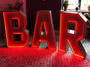 Industrial Metal Illuminated BAR sign