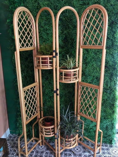 Bamboo plant stand for hire - Rock the Day Essex | prop hire | party props | prop and decor hire