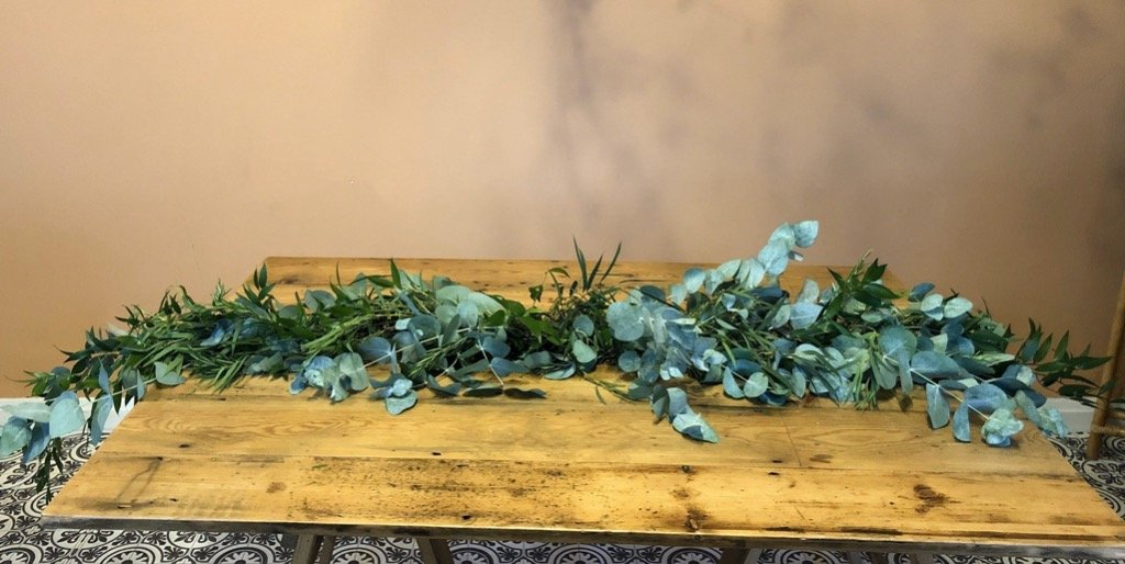 6ft Real Greenery Garland Table Runner