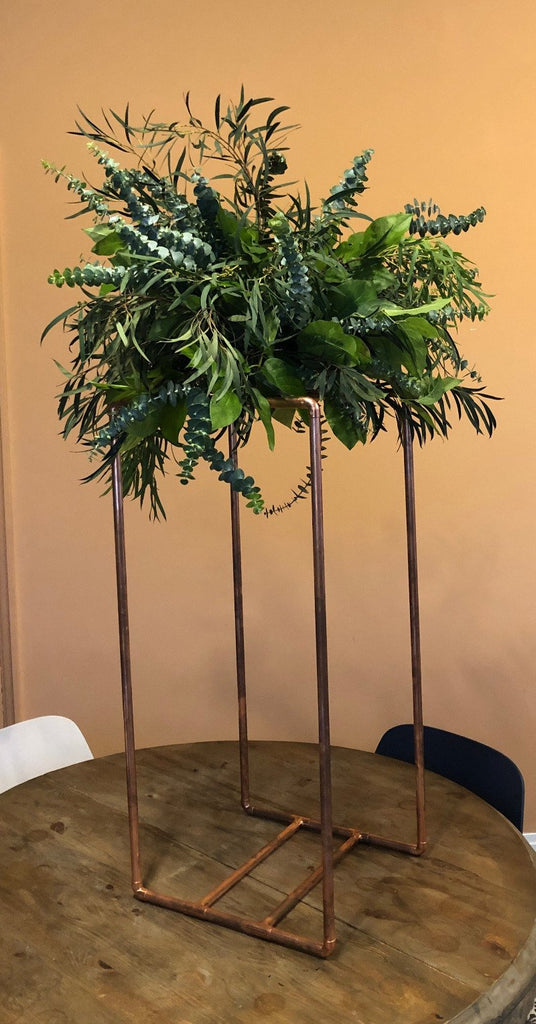 Real Greenery Table Stand Arrangement