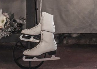 Ice skates- props tp hire, perfect photography prop for mini Christmas sessions. Rock The Day Essex | party styling | hire props