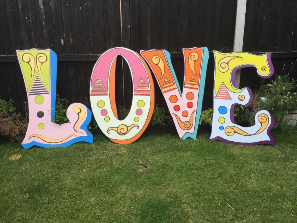 Carnival Wooden Letters | Essex prop hire | Rock the Day Styling