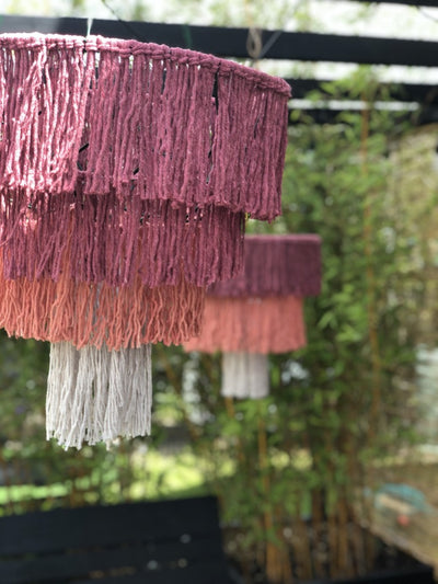 Tassel Lampshades for hire | Party hire | prop hire | wedding hire | venue decor | Rock The Day Essex