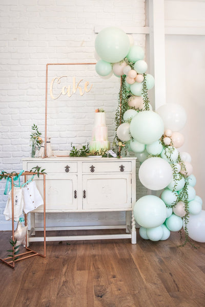 Mint and Peach Baby Shower Styled Package with Photography by Fairweather Photography. Essex/London, Suffolk