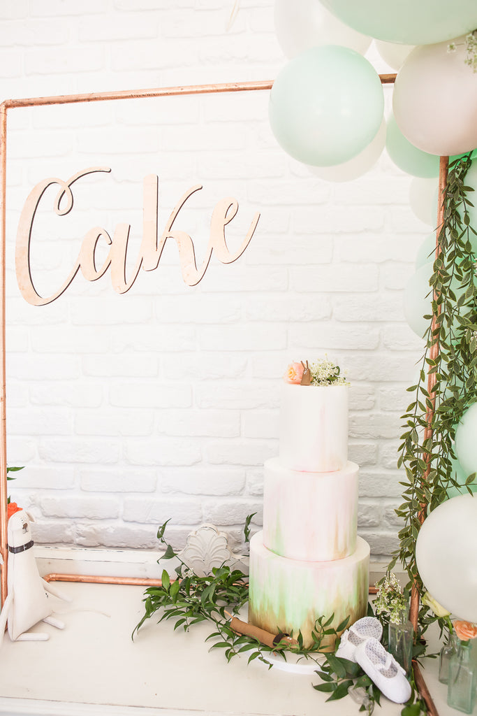 Copper Cake Backdrop