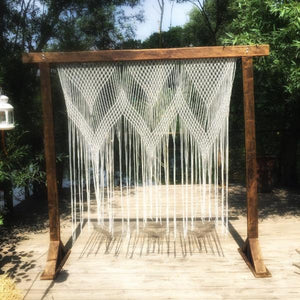 Wooden Arch and Macrame Backdrop #4