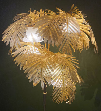 Art Deco style Lamp/Gold Palm Tree for hire. Photoshoot prope, retail display decorations, prop hire | wedding hire | party hire | Rock The Day | Essex, London, Hertfordshire