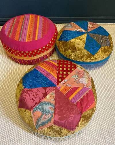 Morrocan style pouffe for hire. Event hire/photoshoot props | wedding hire | venue decor | Rock The Day Essex