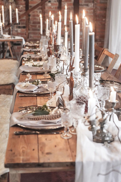 Christmas party table styling | furniture rugs and textiles for hire Rock the Day in Essex