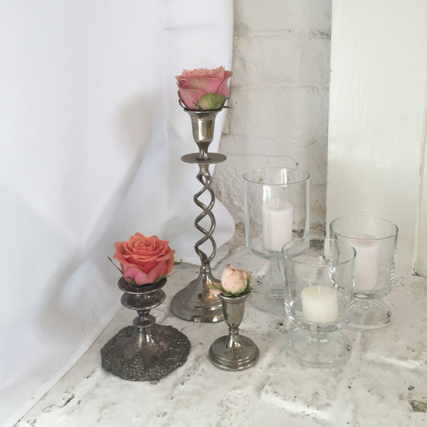 Metal Candlesticks | Prop Hire Essex | Rock The Day Wedding Styling