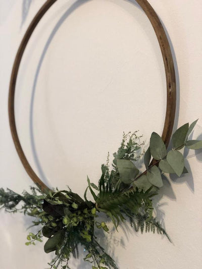 Wooden hoops - hanging decor for hire. Rock The Day Essex-prop hire, venue decor, wedding hire