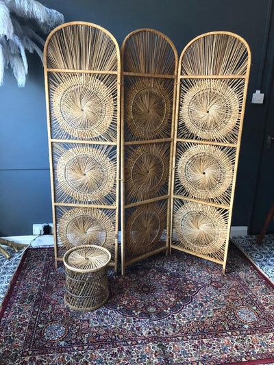 Beautiful original vintage bamboo screen / room divider for hire. Essex event hire, photoshoot prop hire, party props, wedding prop hire, photo backdrop- Rock The Day Essex
