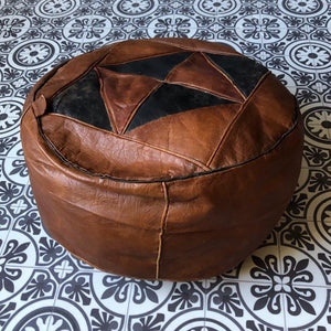 Leather Moroccan Pouffes