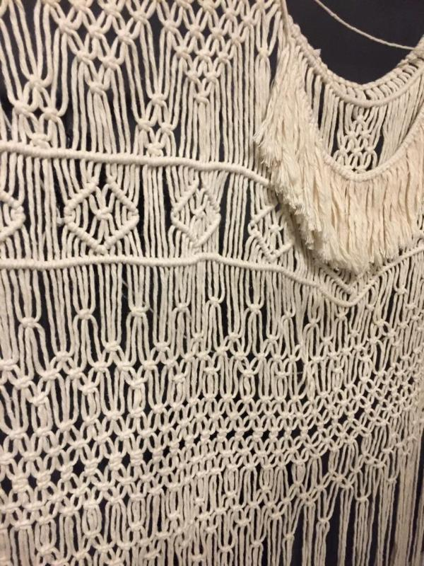 Macrame Backdrop with Fringe