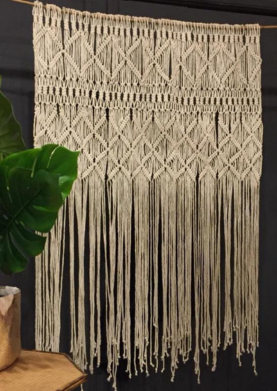 Macrame wall hanging backdrop for hire |  prop hire | wedding hire | event hire | venue decor | Rock the Day, Essex London, Hertdordshire