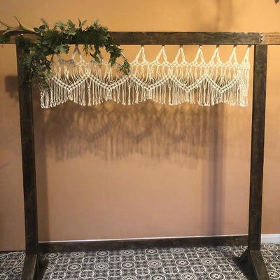 Mini macrame aisle decor for hire | macrame for hire | bespoke props for hire | Rock The Day | Essex