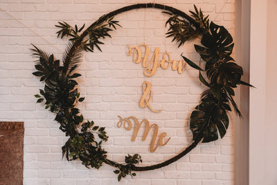 You and Me wedding backdrop/ wedding decor hire Essex