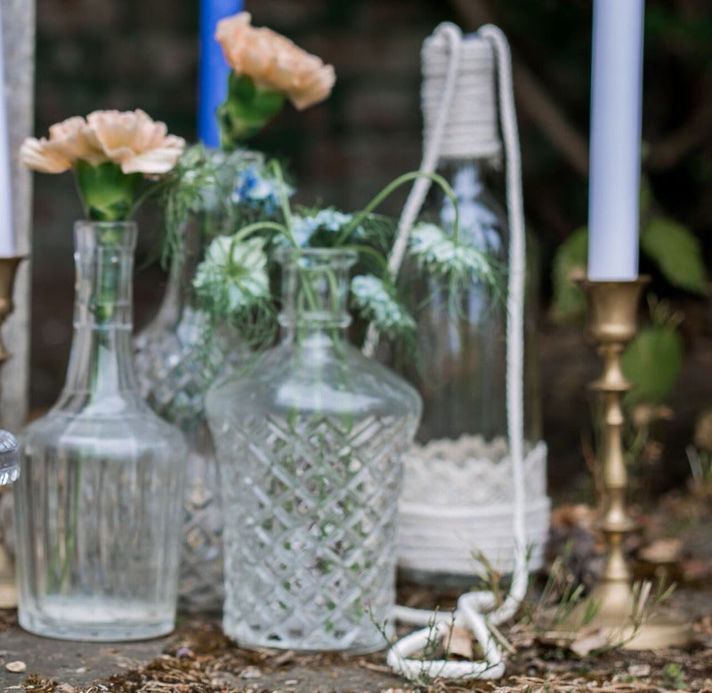 Decanters and Glass Vases | Prop Hire Essex | Rock The Day Wedding Styling