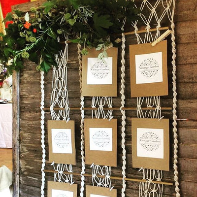 Macrame Table Plan | Prop Hire Essex | Rock The Day Wedding Styling