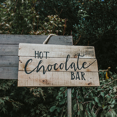 Hot Chocolate Bar | Rock the Day props hire | wedding decor hire Essex