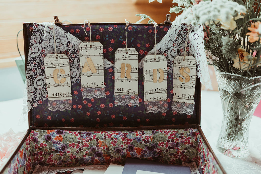Suitcase Cards Station | Prop Hire | Rock the Day Wedding Styling