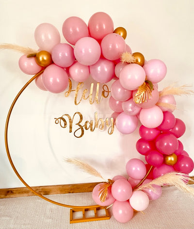 Baby shower balloon garland backdrop for hire | Party hire Essex | Event styling