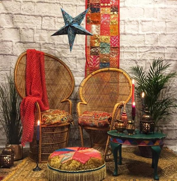 Colourful Moroccan Inspired Seating Area