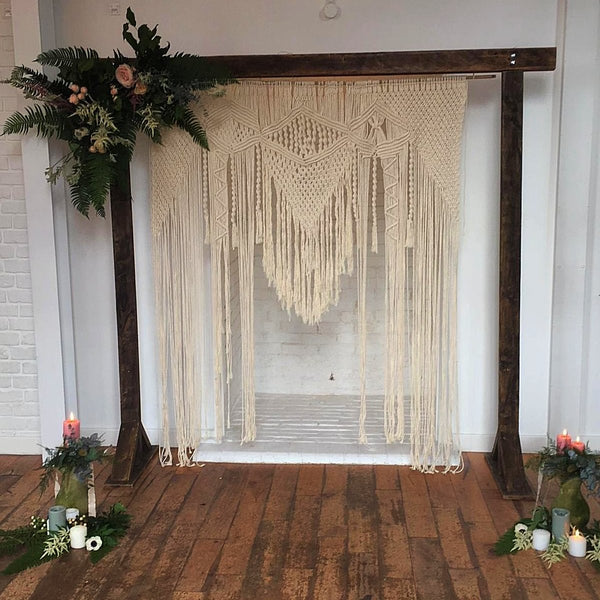 Wooden Arch with Macrame Backdrop