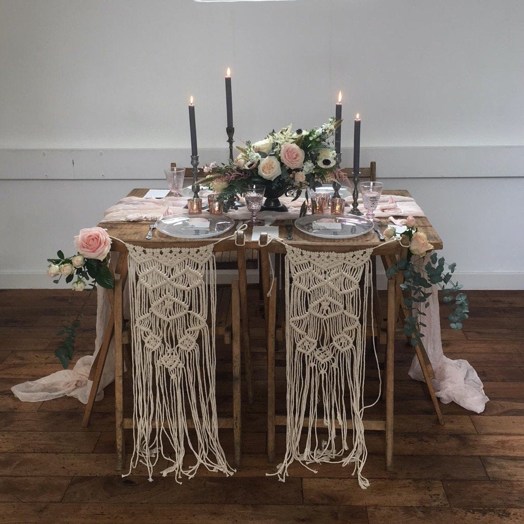 Macrame Chair Decorations