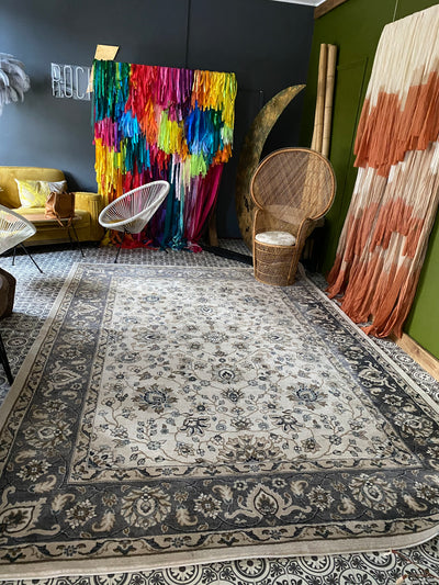 Large Rug for hire Rock The Day | Event prop hire | prop and decor hire Essex