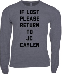 If Lost Please Return to JC Caylen