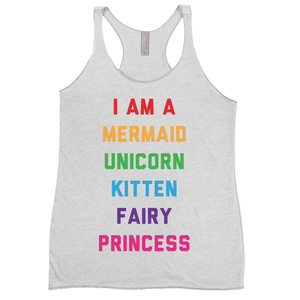 I Am A Mermaid Unicorn Kitten Fairy Princess