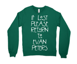 If Lost Please Return to Evan Peters