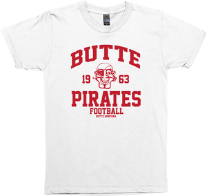 Awesome 'Butte Pirates Football' Varsity T-Shirt