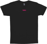 Awesome Ladies 'Trouble' Black and Pink T-Shirt