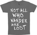 not all who wander are lost blk tank top-jh
