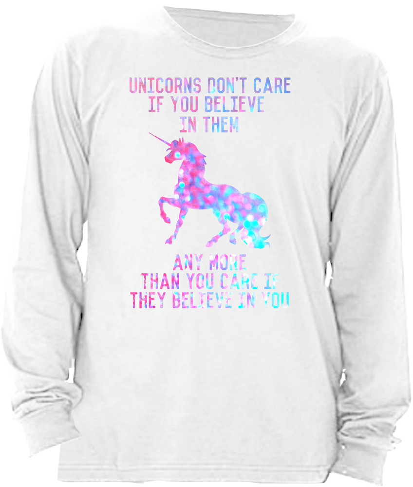 Unicorns don't believe in you