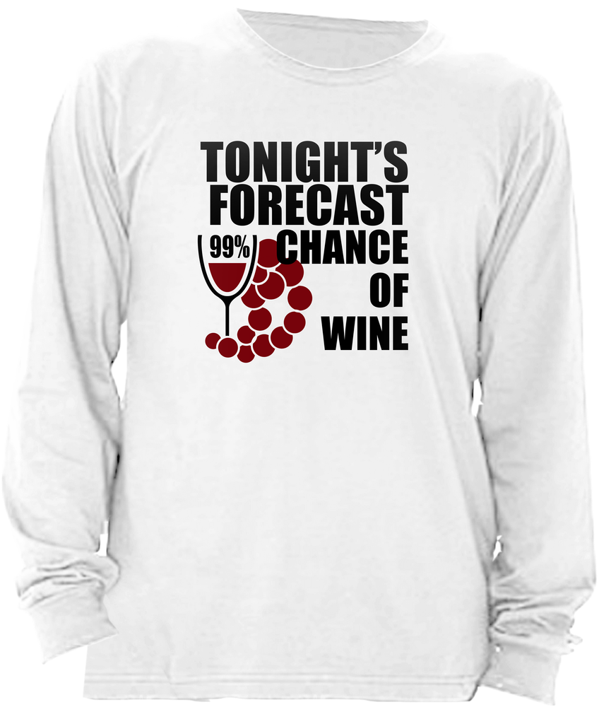 tonight's forecast 99% chance of wine racerback