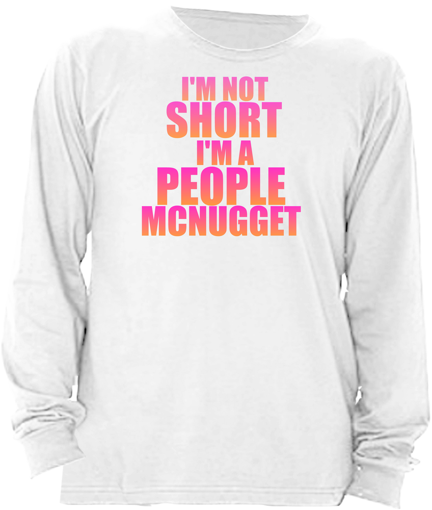 i'm not short i'm a people mcnugget pnk/vneck
