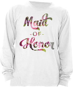 Floral Maid of Honor (Wedding Party Group designs)