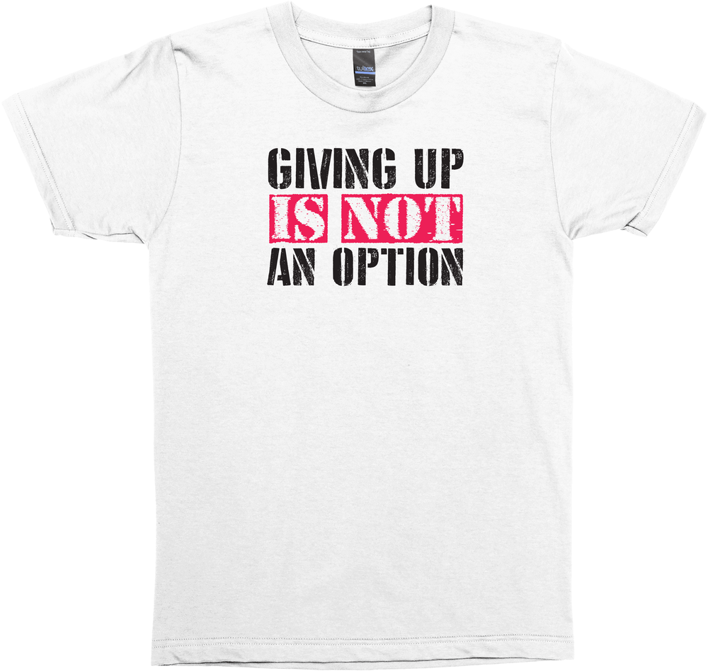 Giving Up Is Not An Option Crosssfit Tank Shirt