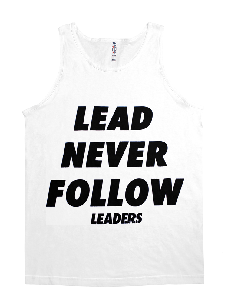 Lead Never Follow  Leaders Baseball Tee