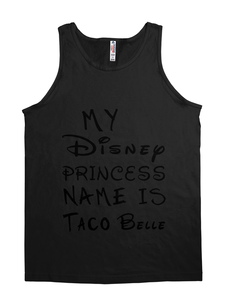 princess taco belle tank top