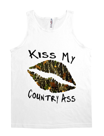 kiss my ass camo lips tank top