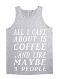 All About Coffee Wht/Blk Tank Top