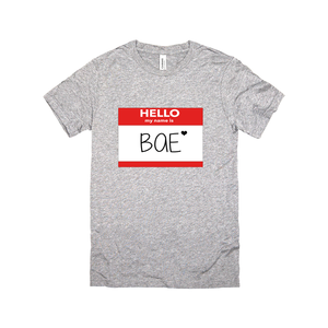 Hello My Name Is Bae V-Neck Tee